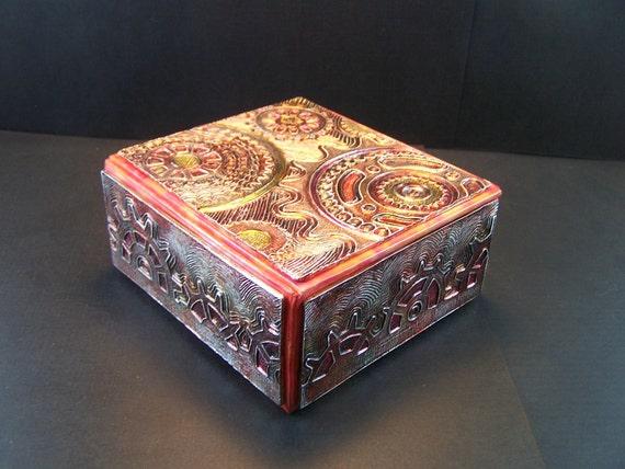 Steampunk Gears Metallic Box