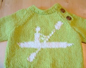 KNIT nautical summer KAYAK SWEATER for child: baby or toddler boy and girl, cotton