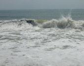 Seascape, Waves, Maryland Coast, Atlantic Ocean Wave, Archival  Fine Art Photograph 8X10