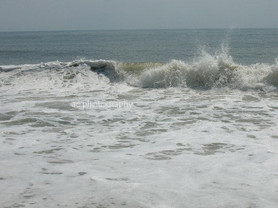 Seascape, Waves, Maryland Coast, Atlantic Ocean Wave, Archival  Fine Art Photograph 8X10