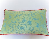 "Silk ""Indochina"" Pillow -- Designer Decorative Pillow -- Accent Pillow 14x20 --30X50"