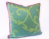 "Silk ""Indochina"" Pillow - Designer Decorative Pillow -- Accent Pillow 20x20 --"