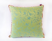 "Silk ""Indochina"" Pillow - Designer Decorative Pillow -- Accent Pillow 20x20 --50X50"