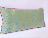"Silk ""Indochina"" Pillow -- Designer Decorative Pillow -- Accent Pillow 14x24 --30X60"