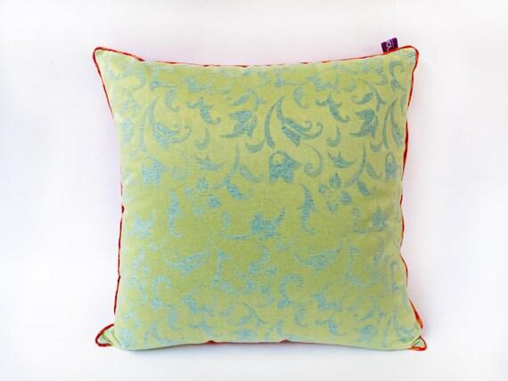 "Silk ""Indochina"" Pillow - Designer Decorative Pillow -- Accent Pillow 20x20 --50X50"