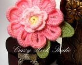 Pink flower headband, baby headband, adult headband, infant headband, child headband