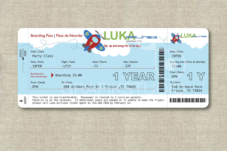 Boarding Pass Birthday Invitation with beautiful invitations ideas