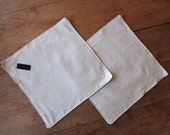 Set of 2 Reusable Travel Placemat/ Sandwich Wrap -Linen with Black Interior