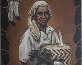 Cherokee Indian  Beloved Woman Maggie Wachacha Snowbird Community Fine Art Lithograph