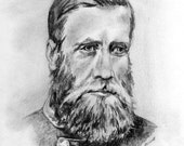 Civil War Fine Art- General John Bell Hood- Original Drawing by Artist Cathy Cooksey