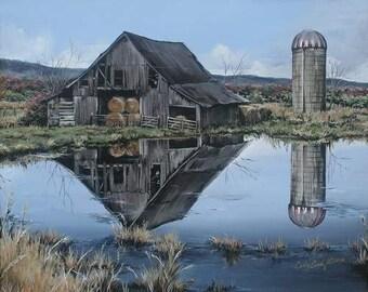 Barn art, farm art,  archival prints, country wall decor
