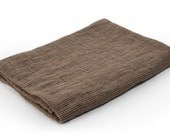 Pure Linen Bath Towel in dark brown colour & FREE SHIPPING