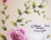 Card paper goods pink roses flower art