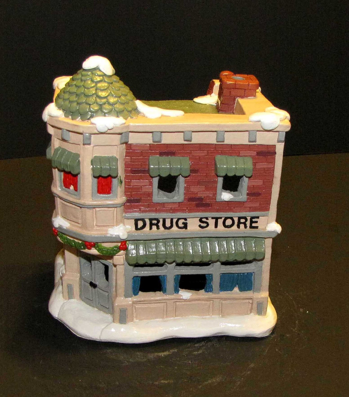Ceramic Christmas Village Drug Store