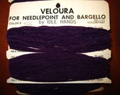 Vintage Veloura Yarn For Needlepoint and Bargello -Color 426 -Deep Purple
