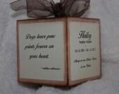 Pet Memorial Memento wooden block keepsake ornament - Personalized      T004