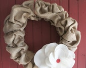 """reserved for Rebecca Newsome only - 18"""" burlap wreath"""