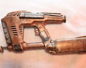 Steampunk Ferridian Ray Gun No.15 Pistol Nerf Magstrike AS-10 Victorian LARP Brass Custom Hand Paint and Modified Clockworks