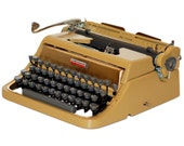 Revitalized Gold Underwood Quiet Tab De Luxe Typewriter Professionally Refurbished Portable & Two New Ribbons