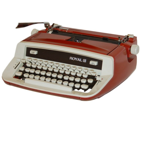 Revitalized Red Royal Custom II Safari Typewriter Professionally Refurbished Portable & Two New Ribbons
