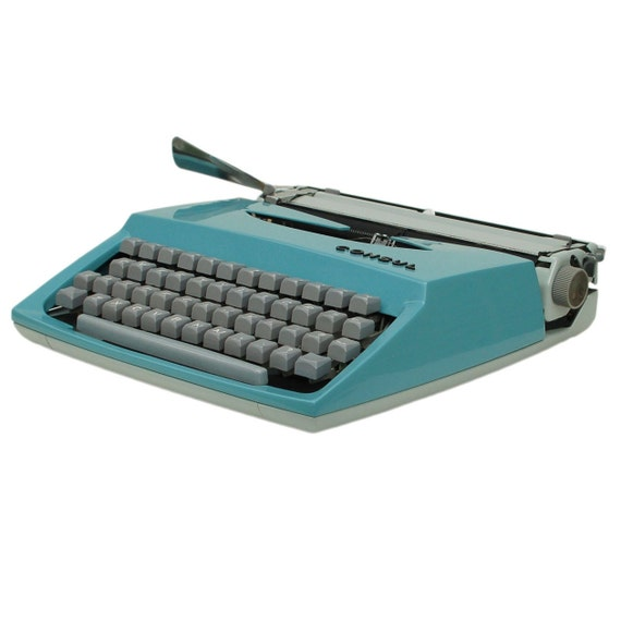 Revitalized Blue Consul No.231 Typewriter Professionally Refurbished Portable & Two New Ribbons