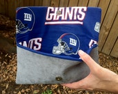 NY Giants Suede Foldover Clutch (Team is Customizable)