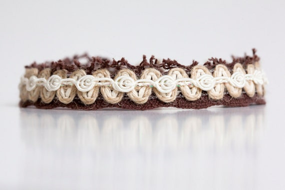 Newborn halo headband - white, tan, ivory, brown - Mythology Collection