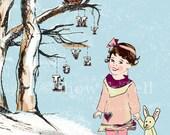 "Children's Wall Art Print - Love Letters 8x10"" - Kid's Nursery Room Decor"