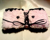 SALE neck warmer pink black lace warm