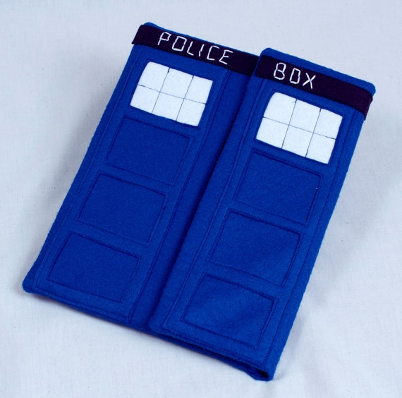 Dr. Who TARDIS inspired iPad case