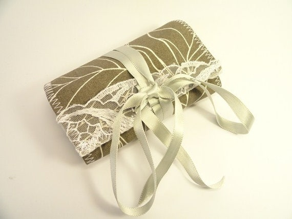 Travel Fabric SEWING kit - Roll Sewing Kit - Original Gift - White Laces - SEWING Emergency