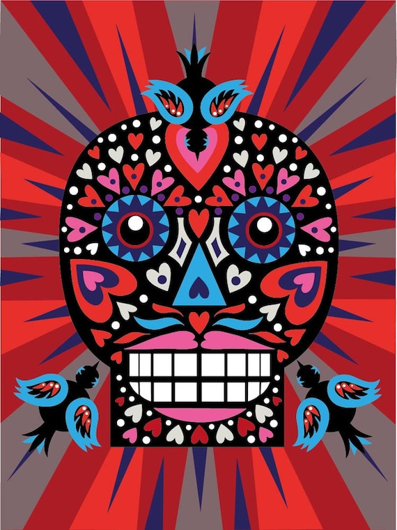 Day of the Dead 'Love Skull' print
