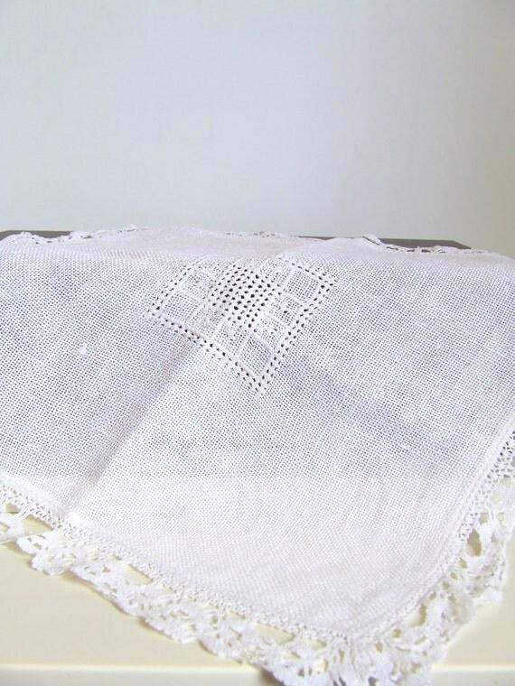 SALE Danish shabby chic table runner - centerpiece - table mat