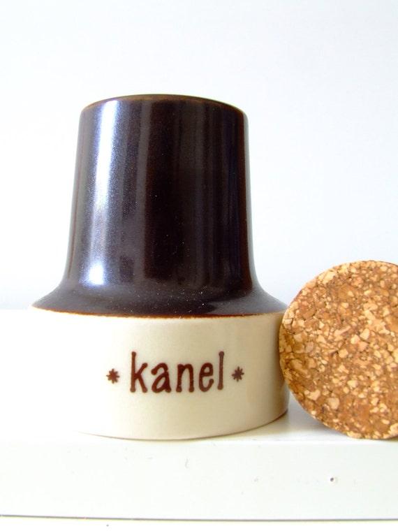 "Soholm Denmark Cinnamon Spice Jar - ""Rikke"" by Poul Brandborg - Danish pottery"