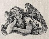 ANGEL, Instant Download, Image Transfer, Digital Collage Sheet - digital download no.007
