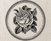 ROSE frame, Instant Download, Digital Image Transfer, Digital Collage Sheet - digital download no.063