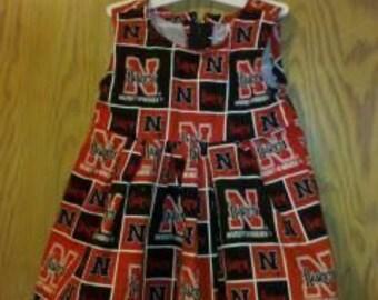 Nebraska Cornhusker  toddler girls jumper sleeveless dress