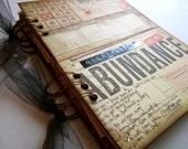 "Smash Book Junk Journal Planner Organizer ""Destination: Abundance"" READY TO SHIP"