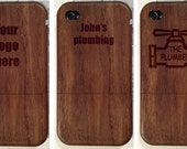 Wood iPhone Case add-on custom laser etched with your art or photo