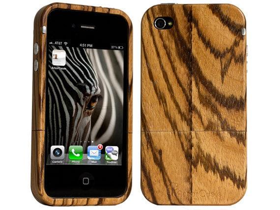 Wood iPhone Case exotic Zebra