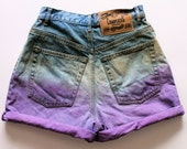 Purple Ombre Denim Shorts