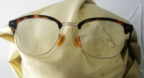 Vintage Tortoise Shell  12 gold filled nose piece signed eye glasses frames