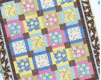Nesting Lap Throw Quilt Pattern by Me and My Sister Designs