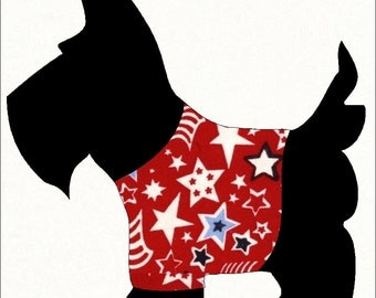 Scottie Dog Applique Pattern for Sewing Quilting Scrapbook Template
