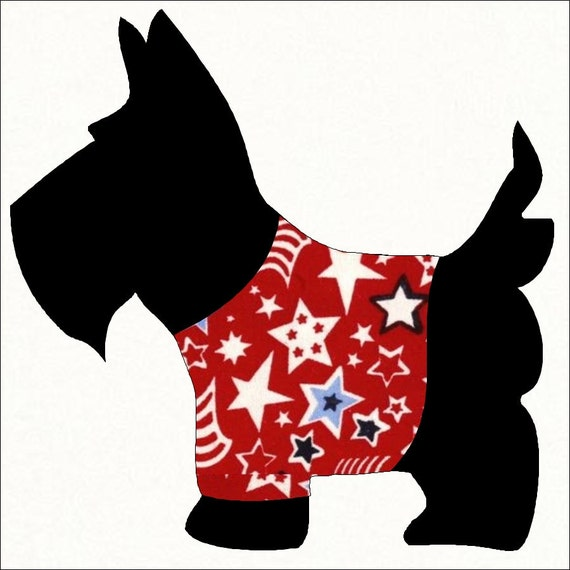 Scottie Dog Applique Pattern for Sewing by GeorgiaGirlQuilting