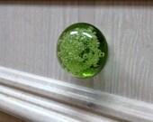 Bubble Glass Knob - Lime Green