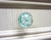 Bubbly Glass Knob - Light Blue