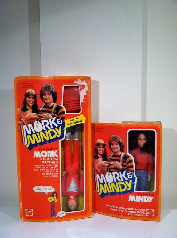 Vintage Mork and Mindy dolls - NIB - 1979.