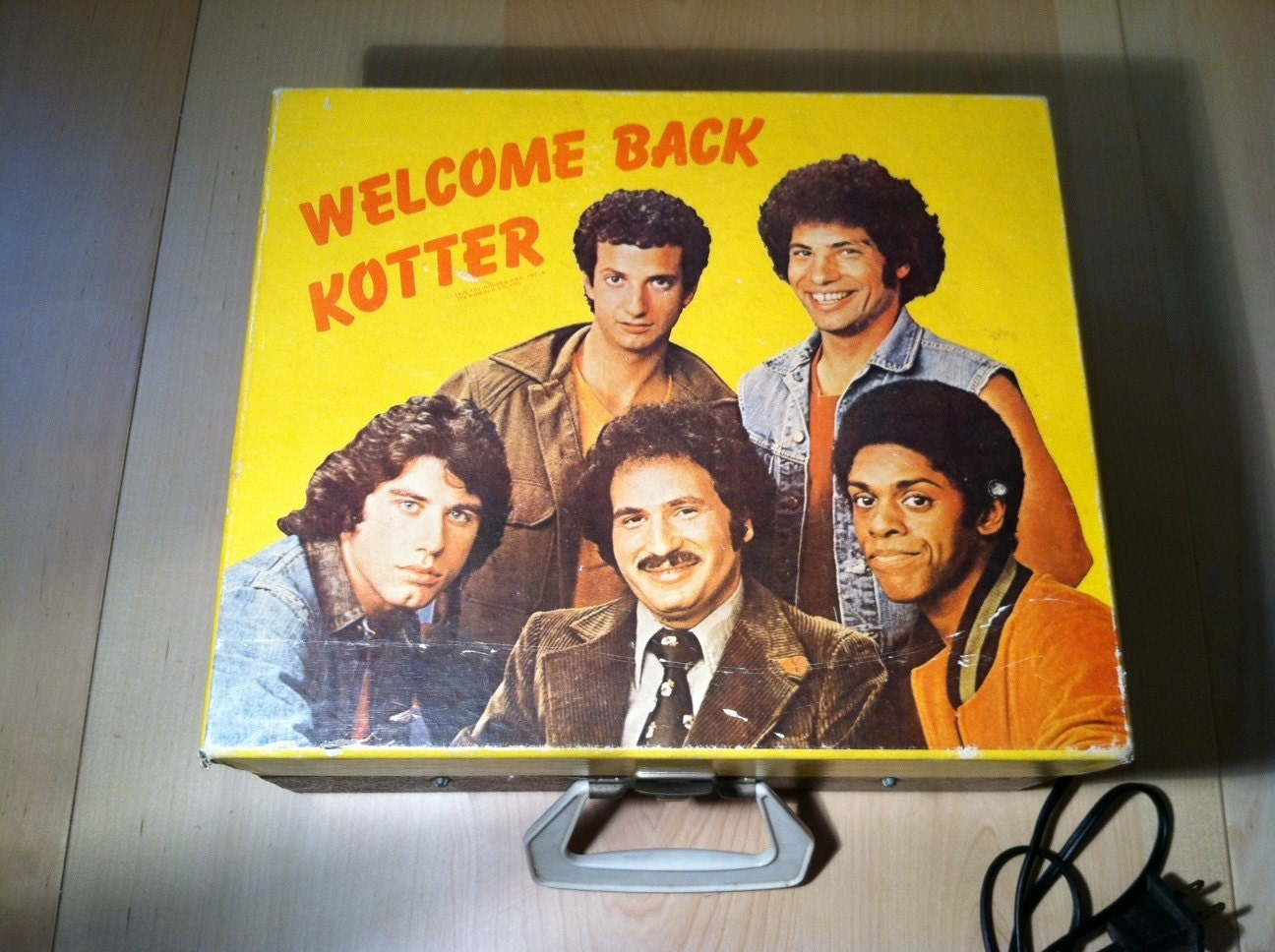 Welcome back Kotter Portable record player/ Turntable Plays
