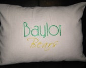 Baylor University Linen Pillow